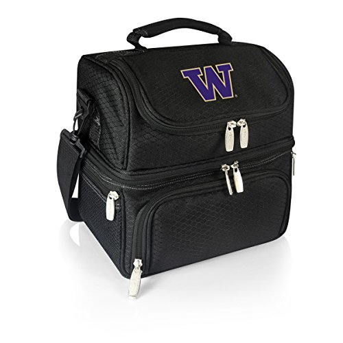 PICNIC TIME NCAA Washington Huskies Pranzo Insulated Lunch Tote, Black