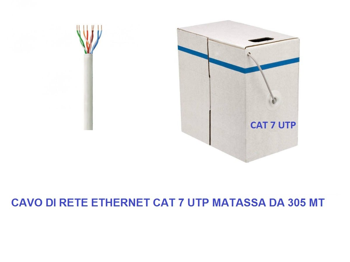 My smart shop Madassa - Cable de red UTP Cat 7 LAN Ethernet M Bobina Internet ADSL Plug Modem Router Access Point Reapeter: Amazon.es: Industria, empresas y ciencia