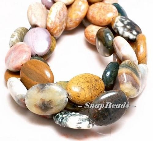 - Masquerade Ocean Jasper Gemstone Oval 16X12MM Loose Beads 15'',