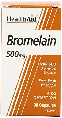 (12 PACK) - Healthaid Bromelain 500Mg Veg Capsules | 30s | 12 PACK - SUPER SAVER - SAVE MONEY by Health Aid