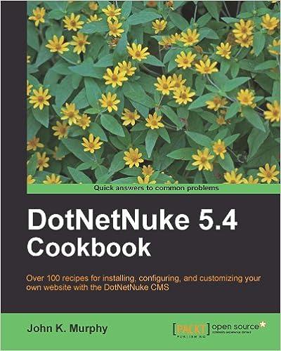 dotnetnuke 5 4 cookbook murphy john k