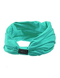 Fullfun Elastic Sports Yoga Headbands for Women Hair Accessories Fashion Ruffle Turban Headwear