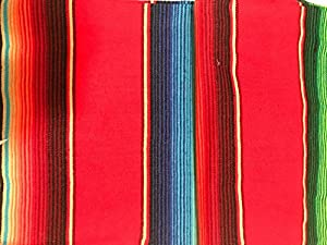 "Mexican Serape Table Runner 84""x12"" Sarape Zarape By Mexitems"