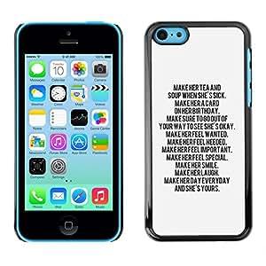 SKCASE Center / Funda Carcasa - Cita inspiradora motivación;;;;;;;; - iPhone 5C