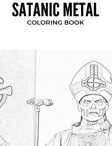 Satanic Metal Coloring Book Norwegian Black And Antichrist Burzum Inspired Adult For Adults By