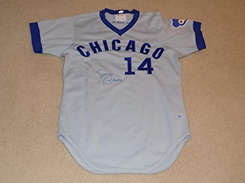 1975-Ernie-Banks-Game-Worn-Signed-Jersey-Chicago-Cubs-HOF-JSA-Certified-MLB-Autographed-Game-Used-Jerseys