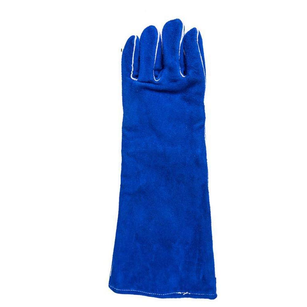IRVING Fire Resistant Gloves Leather,Mitts Perfect for Fireplace, Stove, Oven, Grill, Welding, BBQ, Mig, Pot Holder, Animal Handling (Size : L) by IRVING (Image #3)