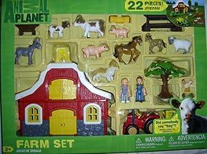 Amazon Com Animal Planet Farm Set 22 Pieces Toys Amp Games