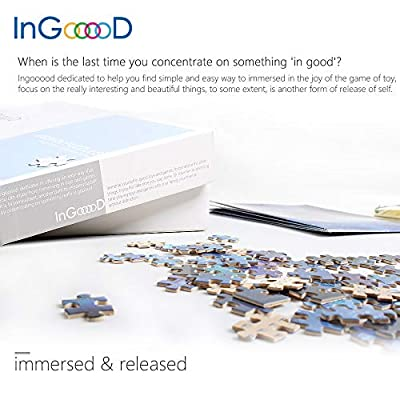 Ingooood- Jigsaw Puzzles 1000 Pieces for Adult- Tranquil Series- Street_IG-0474 Entertainment Wooden Puzzles Toys: Toys & Games