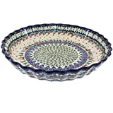 Polish Pottery Reindeer Delight Pie Plate