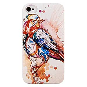 WQQ Los Cinco Colores Bird nuevo caso para el iPhone 4/4S