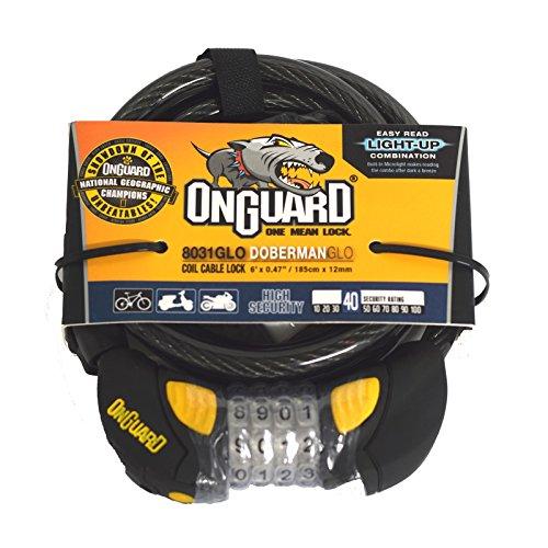 OnGuard Doberman Glo Coil Cable Locks 6&Prime, x .47&Prime, 8031GLO