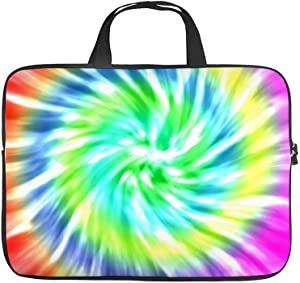 Laptop Sleeve Handle Bag Tie Dye Design Neoprene Case Protective Bag,Portable MacBook Laptop,Ultrabooks Case Bag Cover 12 Inch