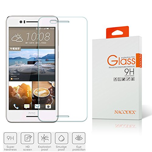 HTC Desire 728 Tempered Glass Screen Protectors, Nacodex 9h Hardness, 2.5d Rounded Edges, 0.3mm Thickness for Glass (for HTC Desire 728)