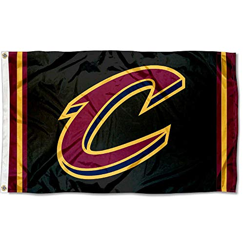 WinCraft Cleveland Cavaliers Black C Logo Flag and Banner