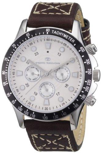 Tom Tailor Herren-Armbanduhr XL Analog Leder 5407402