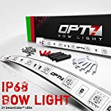 OPT7 Boat Bow Navigation Light Kit - 1 Mile Visibility - Waterproof LED Lights for Fishing, Marine Safety, USCG Regulation - Bass, Lake, River, Boating, Kayak, Ocean, Sailing, Single Stack