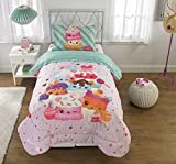 Add a Truly Unique Element to Your Child's Bedroom with Adorable,Super Soft and Comfortable Num Noms Smells Happy Kids Bedding Scented Twin Comforter,64'' x 86'',Pink/Multicolor