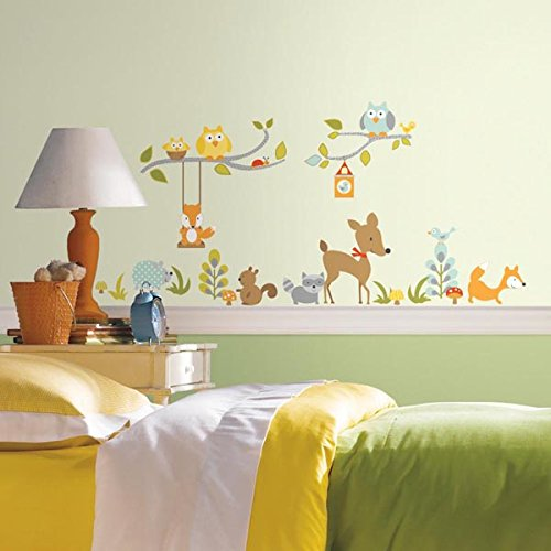 RoomMates Repositionable Woodland Fox And Friends Wall Stickers Part 47