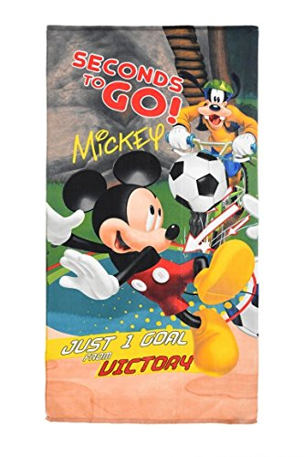 Disney Mickey Mouse Kids Beach Towel Microfiber Water Absorbent 100% Polyester 70 X 140 cm (Green) by Disney (Image #3)