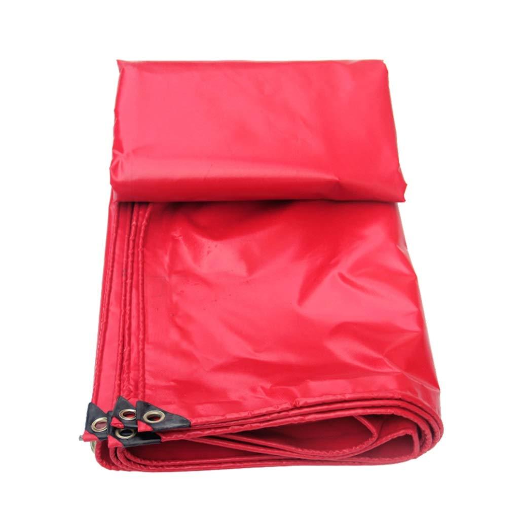 QQHWDT LYX® Regendichtes Tuch, Rot PVC-Plastik überzogenes Tuch Regendichter Shed-Oberstoff-Feier-Haube Wasserdichtes Segeltuch-Verschluss Poncho Shade Sunscreen