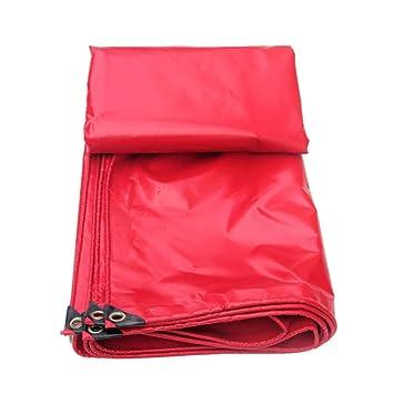 LYX® Paño impermeable, Pvc rojo Revestimiento de plástico Paño impermeable Cobertizo de tela Capucha