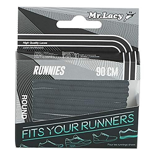 - Mr Lacy Runnies - Black Running Shoelaces - 90cm Length 3mm Width