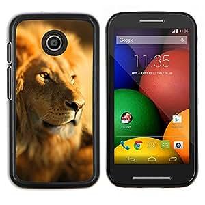 - LEADER PACK LION JUNGLE SAVANNAH AFRICA - Caja del tel¨¦fono delgado Guardia Armor- For Motorola Moto E (1st Gen, 2014) Devil Case