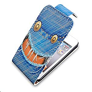 YXF Cartoon Cowboy Style Up-Down Turn Over PU Leather Full Bady Case for iPhone 4/4S