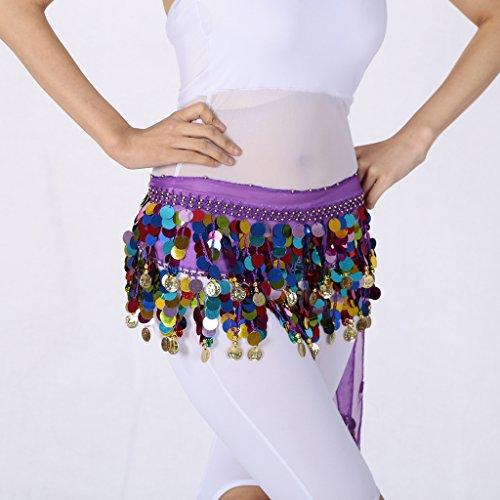 Photographie du Dcor Ventre de Homyl Dcor Danse Taille Jupe Violet Femme Vtement Bande Danseur Mini gqA7C