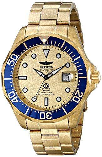 Invicta Men s 17108 Pro Diver Analog Display Swiss Quartz Gold Watch