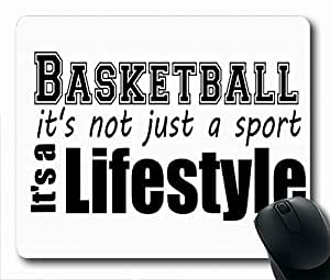 "Basketball Quotes Simple Design STYLE (118081) Custom Printed Oblong Gaming Mousepad Standard Size 220mm*180mm*3mm Mouse Pad /Rectangle Mousepad in 9""*7"" by icecream design"
