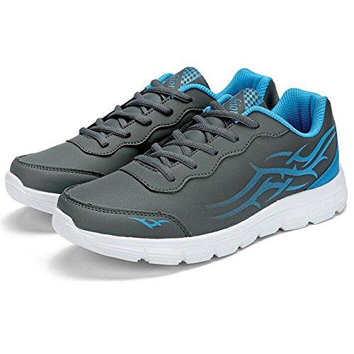 Scarpe Sportive Da Uomo Stringate Da Running Da Jogging Sneaker Grigie