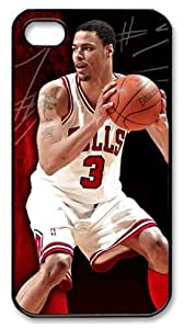 LZHCASE Personalized Protective Case for iPhone 4/4S - Tyson Chandler, NBA Chicago Bulls #3