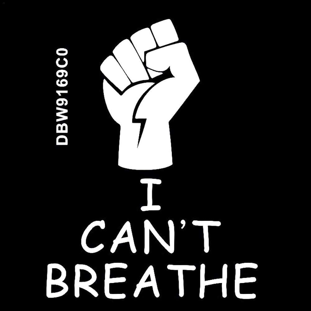 Car Stickers PVC Notebook Car Window Glass Graffiti Computer Wall Truck Sticker for I Cant Breathe