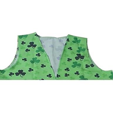 LUOEM Disfraz San Patricio Chaleco y Pajarita Disfraz de Irlandesa ...