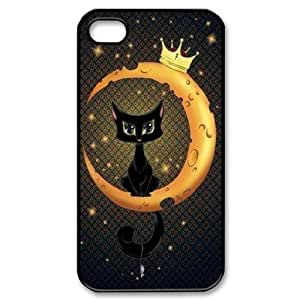 Customized Dual-Protective Case for iPhone 5c, Cat, Sun and Moon Cover Case - HL- 5c06197