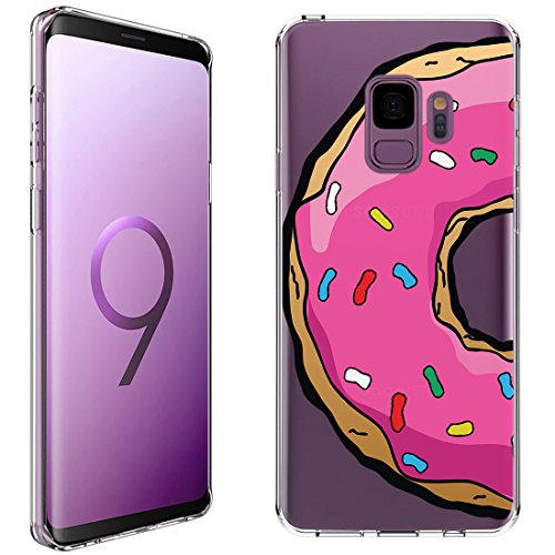 Samsung Galaxy S9 Case [Homer's Donut](Clear) PaletteShield Flexible Slim TPU skin phone cover (DOES NOT fit S9 Plus)