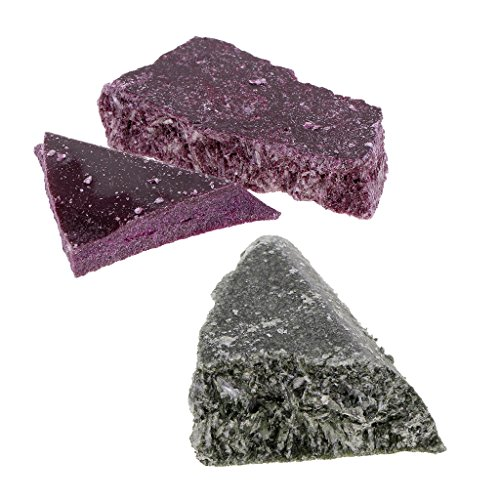 Dovewill 2 Pieces x10g Homemade Candle Making Pigment Candle Dyes Chip Purple Green Colors