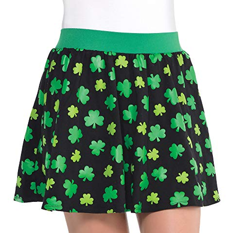 Amscan St. Patrick's Day Kelly Green Skater Skirt | Party Costume -