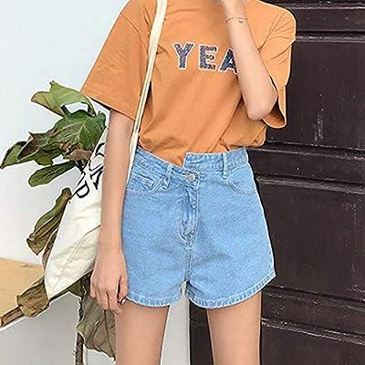 Pantalones Cortos De De Mezclilla Pantalones Mujeres Las Cortos De Moda Completi Cintura Alta Azul Claro Verano Mujeres Troncos De Natación Moda De Verano Pantalones Cortos De Natación Pantalones De: Ropa y accesorios