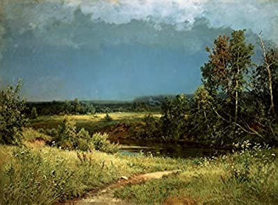 Gathering Storm by Ivan Shishkin. 100% Hand Painted.Oil On Canvas. Reproduction. (Unframed and Unstretched).
