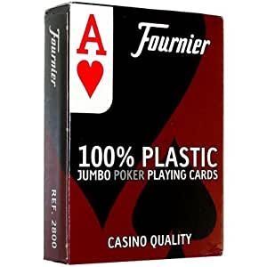 Fournier No. 2800 Poker Size Jumbo Index Playing Cards (Red)