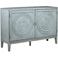 Pulaski P020242 Briane Console 2 Door Accent Table, 54 x 16 x 38, Antique Blue
