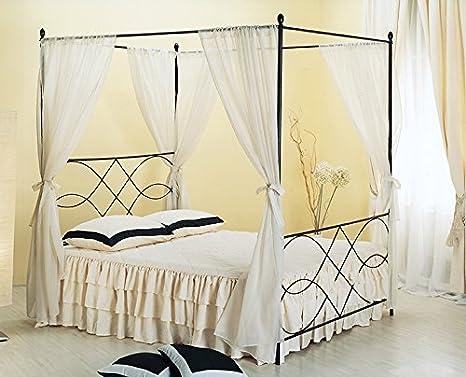 Bed Store LETTO MATRIMONIALE CON BALDACCHINO IN FERRO BATTUTO ...