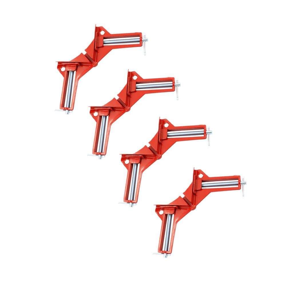 Jili Online 4pc HEAVY DUTY 3'' 80MM MITRE CORNER CLAMPS FRAME HOLDER WOODWORK RIGHT ANGLE by Jili Online (Image #10)