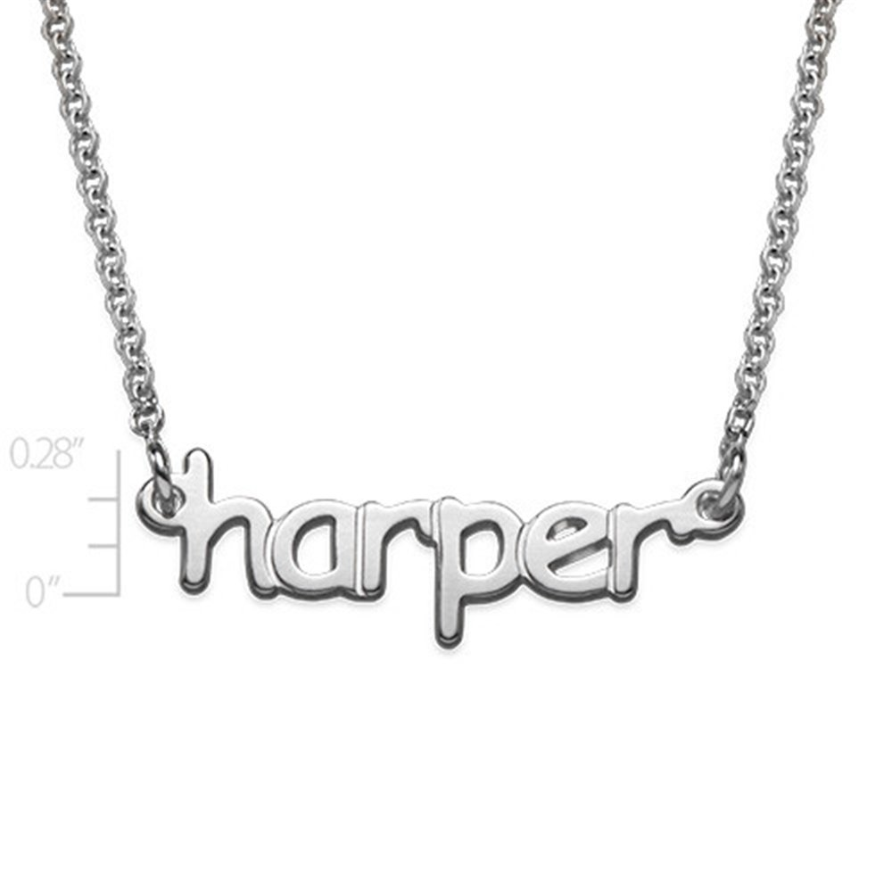 Name Necklace Pendant Tiny Name Necklace Personalized Custom Inscribed Pendant Jewelry