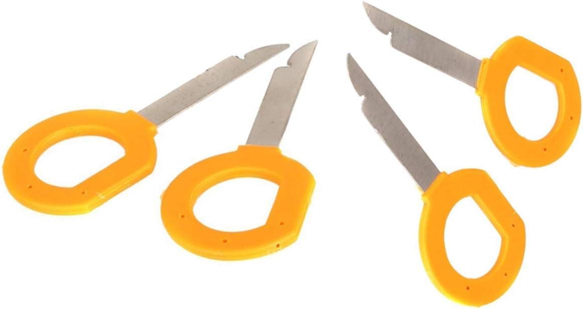 Ketofa Radio Stereo Removal Tool Keys Set for Audi Volkswagen Mercedes, Car DVD Host Key Disassembly Tool
