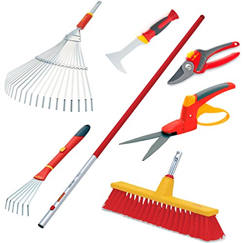 Wolf-Garten Lawn Yard Care Tool Kit – 8 Piece Tool Set