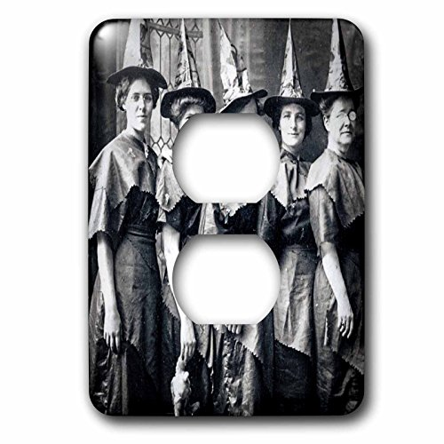 3dRose Scenes from the Past Ephemera - Vintage Halloween Witches Coven Early 1900s Scary - Light Switch Covers - 2 plug outlet cover (lsp_269792_6) ()